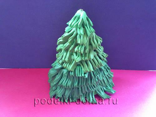 Как сделать елку из пластилина