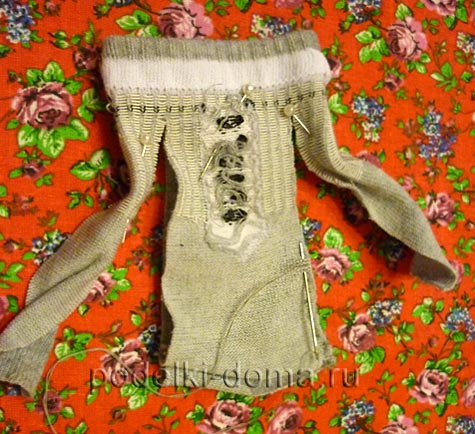 Как сшить платье для Барби из носка