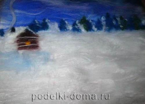 kartina iz shersti zima15