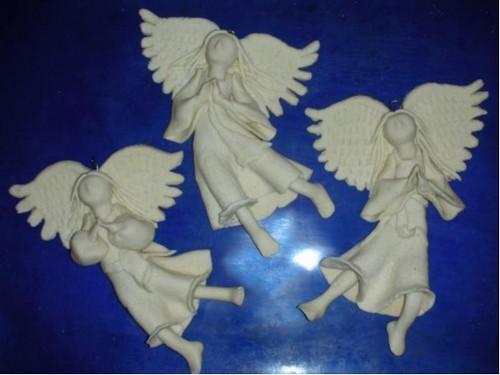 Как сделать ангела из соленое тесто