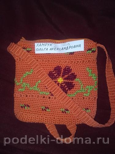 сумочка вязание крючком