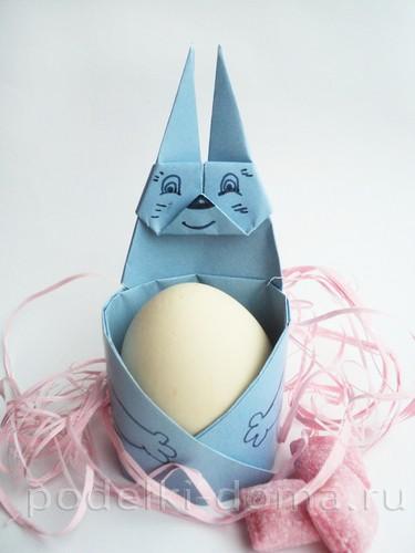 подставка для яйца кролик из бумаги 13