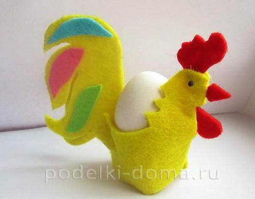 подставка для яйца петушок из фетра