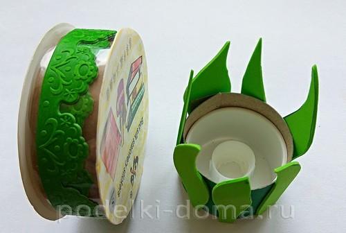 поставка под яйцо бумага и фоамиран 03