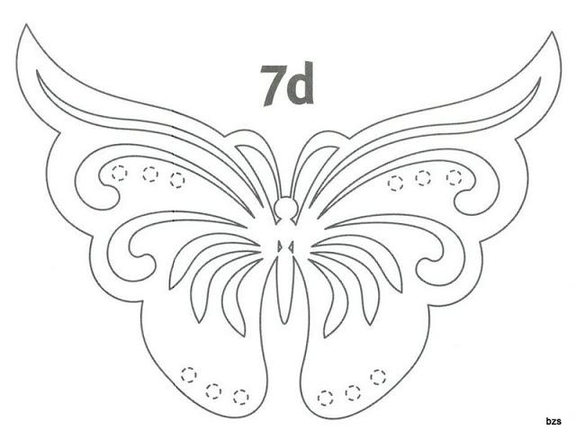 Трафарет бабочки для вырезания из бумаги