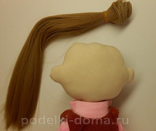 как пришить кукле волосы трессы