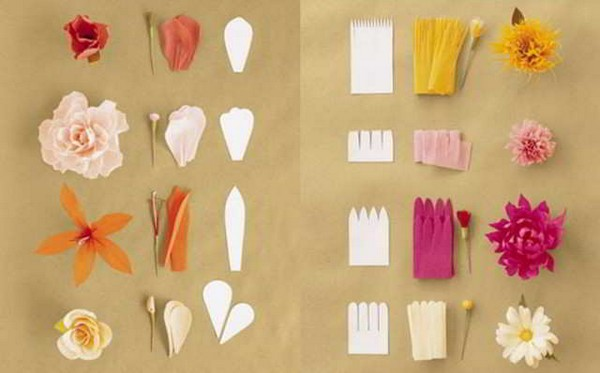 гофро - формы лепестков