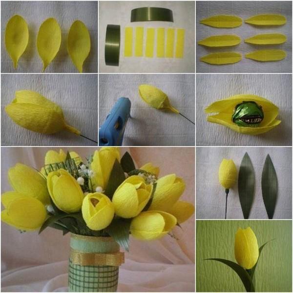 гофро тюльпаны с конфетами