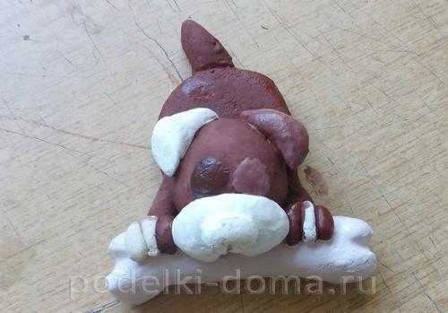 собака с косточкой соленое тесто11