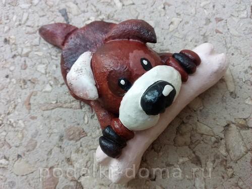 собака с косточкой соленое тесто14