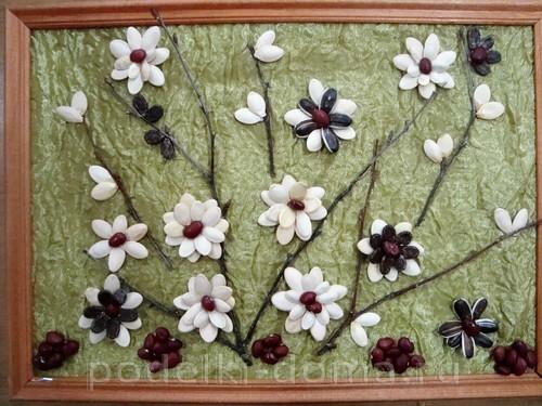 цветочки из семечек