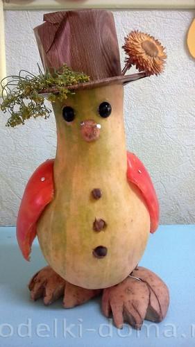 веселый пингвин из овощей