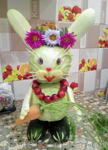 заяц из овощей