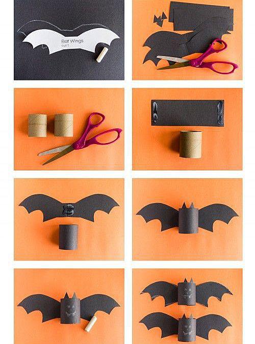 Как сделать летучую мышь из бумаги для детей