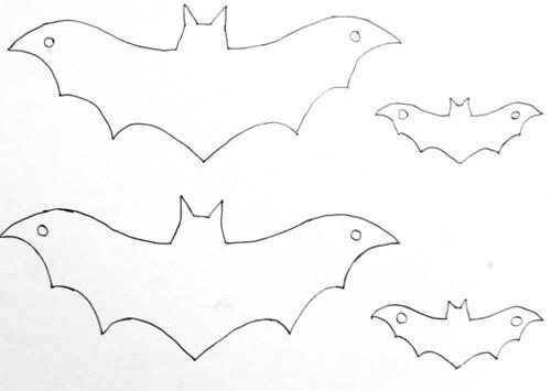 Летучая мышь на хэллоуин своими руками
