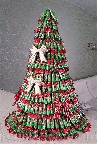 елка из конфет Кислюк Дарья