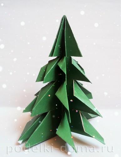 елочка оригами 16