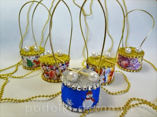елочные игрушки барабанчики 10