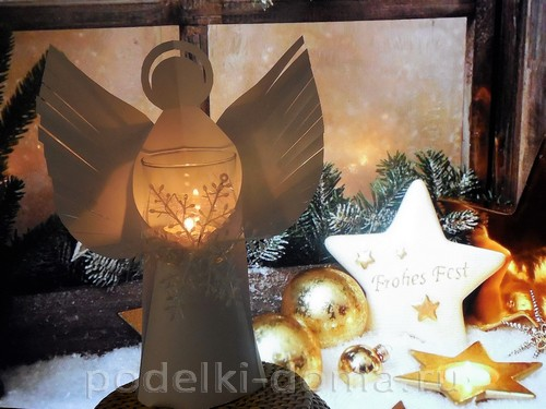 бумажный ангел подсвечник 18