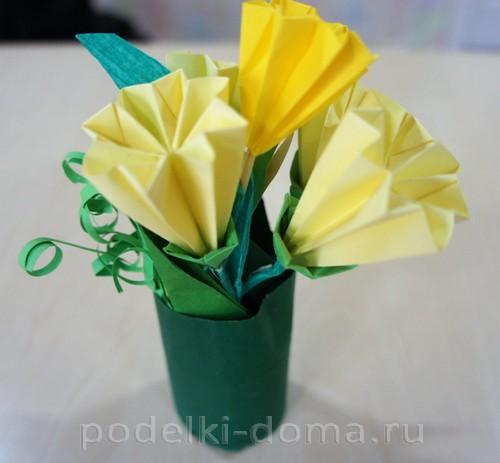 букет оригами