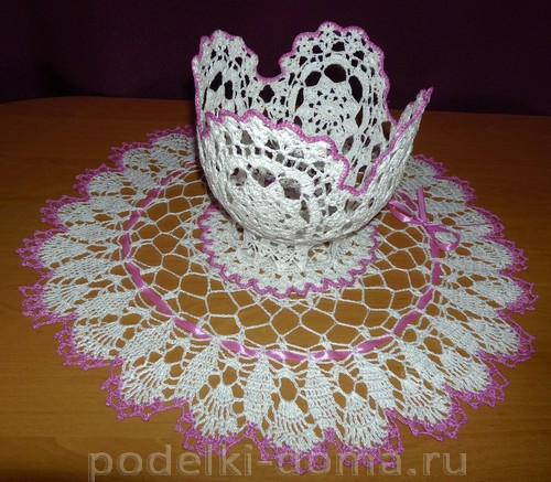Mame-na-8-Marta салфетка и ваза крючком