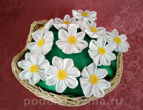 цветочки канзаши