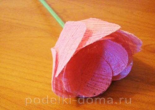 тюльпан из ниток 10
