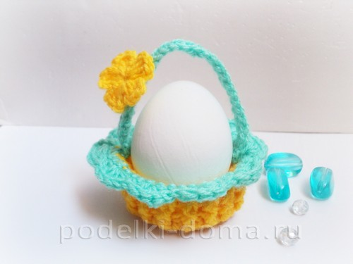 корзинка для яйца вязаная крючком10