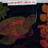 Аппликации из листьев. Поделки из природного материала. Осень