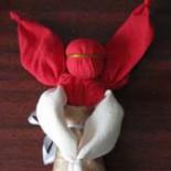 Рождественский ангел из ткани