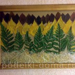 "Картина ""Осенний лес"" (аппликация)"