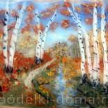 Картина из шерсти «Золотая осень»