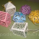 Елочные игрушки из бумаги