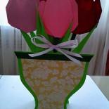 Букет тюльпанов из бумаги (оригами)