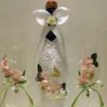 Бокалы и шампанское на свадьбу от Юли