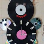 """Часы """"Умка"""" из пластинок и дисков"""