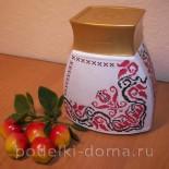 Декупаж для начинающих: баночка в украинском стиле
