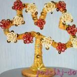 Цветущие сердца из бисера – делаем оригинальное денежное дерево своими руками