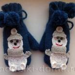 Вяжем детские двойные варежки (спицами)