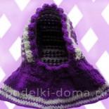 Шапка-шлем для девочки (вязание спицами)