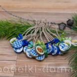 Елочные игрушки из деревянных спилов