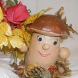 Осенний грибок из соленого теста