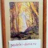 """Картина """"Осеннее утро"""" (лоскутная живопись)"""