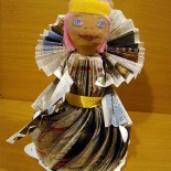 Кукла из газеты. Мастер-класс