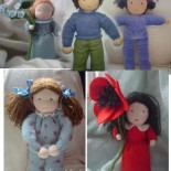 Вальдорфская кукла из байкового материала