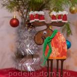 Новогодний лось (декор и декупаж)