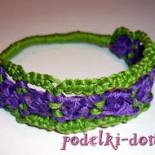 Плетение макраме – браслет