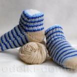 Носочки для подростка двумя спицами