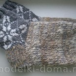 Мужские носки с орнаментом (вязание спицами)