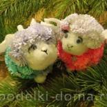 Маленькая овечка из бумаги